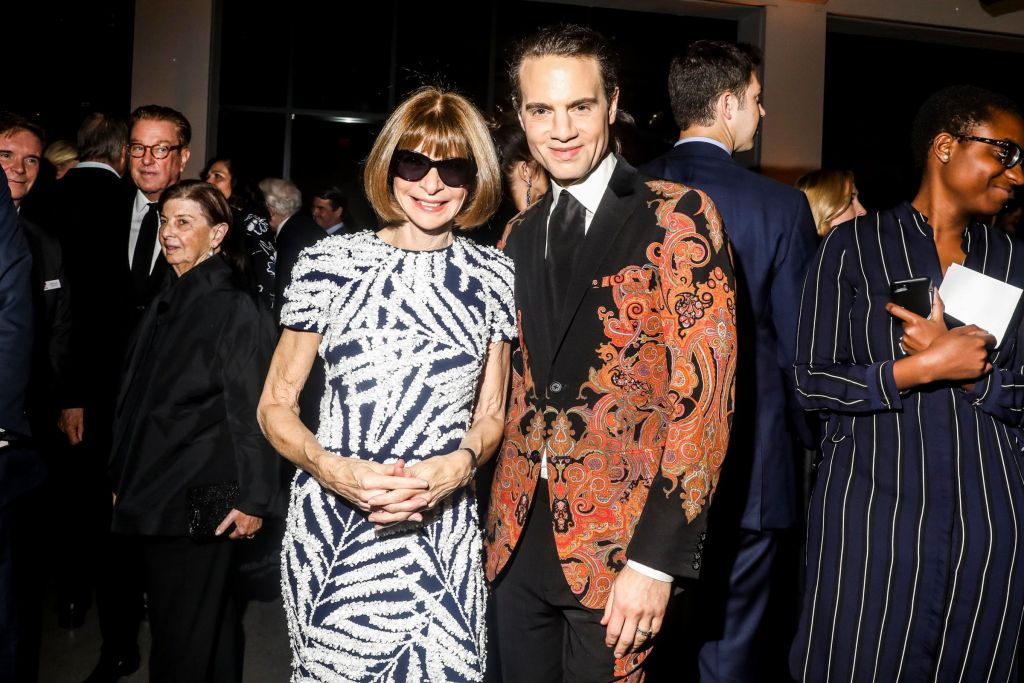 Jordan Roth with Anna Wintour at Gods Love event