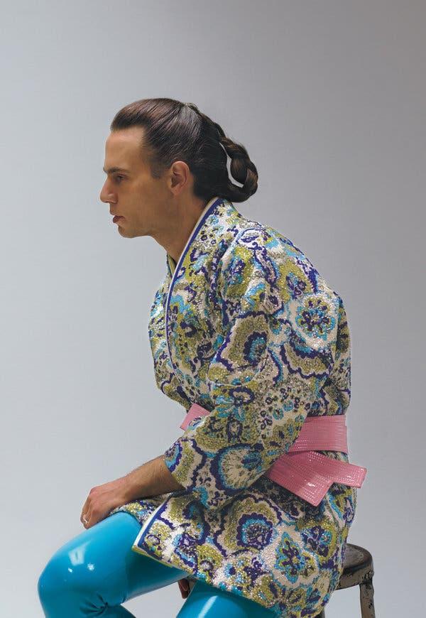 Jordan Roth in Maison Margiela Artisanal Men's by John Galliano for T Magazine